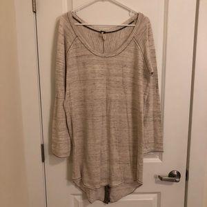 NWOT Free People oversized knit shirt